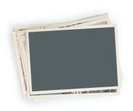 Pila di foto isolate Immagini Stock