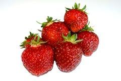 Pila di fragole dell'ed Immagini Stock