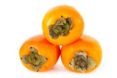 Pila di frutta del cachi fotografie stock libere da diritti