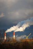 Pila di fumo, concetti di riscaldamento globale Fotografie Stock