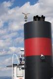 Pila di fumo del traghetto Fotografia Stock
