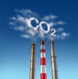 Pila di fumo del veleno del CO2 Immagini Stock Libere da Diritti
