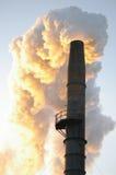 pila di fumo industriale Fotografia Stock