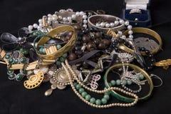 Pila di gioielli Fotografia Stock