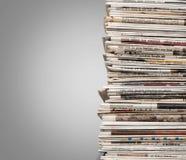 Pila di giornale fotografia stock