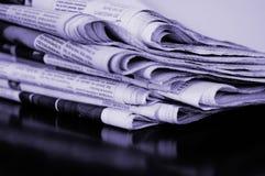 Pila di giornale Immagini Stock Libere da Diritti