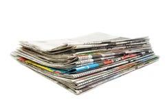 Pila di giornali Immagini Stock