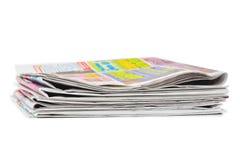 Pila di giornali fotografie stock libere da diritti