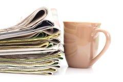Pila di giornali Immagine Stock Libera da Diritti