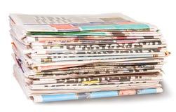 Pila di giornali Fotografia Stock Libera da Diritti