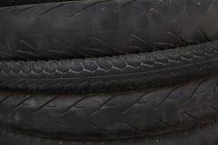 Pila di gomme utilizzate della bicicletta Fotografia Stock Libera da Diritti
