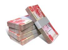 Pila di Hong Kong Dollar Notes Bundles Immagini Stock Libere da Diritti