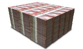 Pila di Hong Kong Dollar Notes Bundles Immagine Stock