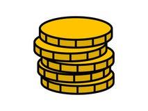 Pila di icona delle monete Fotografia Stock