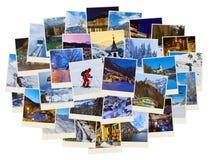 Pila di immagini dell'Austria dello sci delle montagne (le mie foto) Fotografie Stock