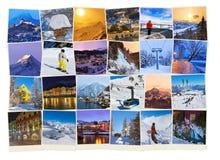 Pila di immagini dell'Austria dello sci delle montagne (le mie foto) Fotografia Stock Libera da Diritti