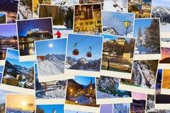 Pila di immagini dell'Austria dello sci delle montagne (le mie foto) Immagini Stock Libere da Diritti
