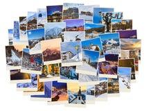 Pila di immagini dell'Austria dello sci delle montagne (le mie foto) Fotografia Stock
