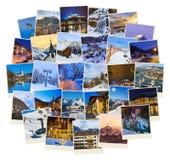 Pila di immagini dell'Austria dello sci delle montagne le mie foto Fotografia Stock Libera da Diritti