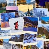 Pila di immagini dell'Austria dello sci delle montagne (le mie foto) Fotografie Stock Libere da Diritti
