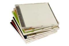 Pila di intelaiature CD immagine stock
