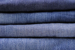 Pila di jeans fotografia stock