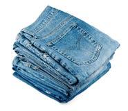 Pila di jeans Fotografie Stock