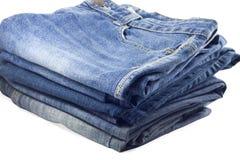 Pila di jeans. Immagini Stock Libere da Diritti