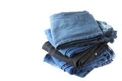 Pila di jeans Immagine Stock Libera da Diritti