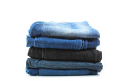 Pila di jeans Fotografia Stock Libera da Diritti