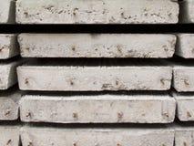 Pila di lastra della costruzione concreta Fotografie Stock