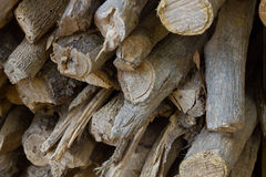 Pila di legna da ardere Fotografie Stock