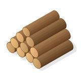 Pila di legna da ardere Fotografie Stock Libere da Diritti