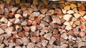 Pila di legna da ardere di mattina fotografia stock