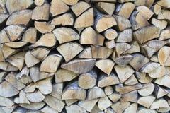 Pila di legna da ardere per il vostro fondo Immagine Stock Libera da Diritti