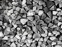 Pila di legno Fotografia Stock