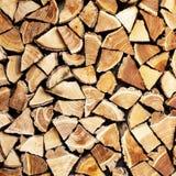 Pila di legno del ceppo Immagini Stock