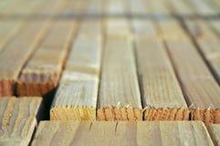 Pila di legno della costruzione Immagini Stock