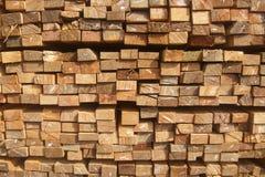 Pila di legno delle plance Immagini Stock Libere da Diritti