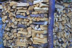 Pila di legno impilato Fotografie Stock