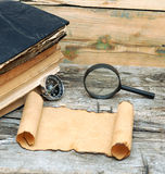 Pila di libri antichi Fotografia Stock