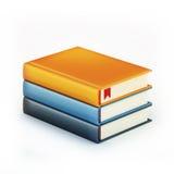 Pila di libri di colore Fotografie Stock Libere da Diritti