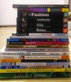 Pila di libri di fotografia Immagine Stock Libera da Diritti