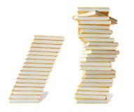 Pila di libri di istruzione Fotografia Stock Libera da Diritti