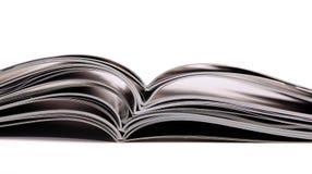 Pila di libri e degli scomparti Immagini Stock