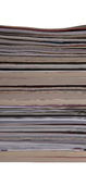 Pila di libri e degli scomparti Immagini Stock Libere da Diritti