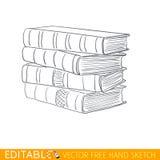 Pila di libri Grafico di vettore editabile nello stile lineare Fotografia Stock Libera da Diritti