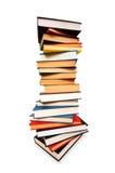 Pila di libri isolati Fotografie Stock Libere da Diritti