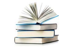 Pila di libri isolati Immagini Stock
