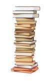 Pila di libri isolati Fotografie Stock